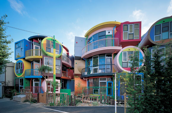 "The couple also built nine ""reversible destiny"" loft-style apartments in Mitaka, Japan."