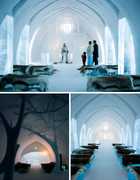 An ice chapel that is popular with marrying couples.