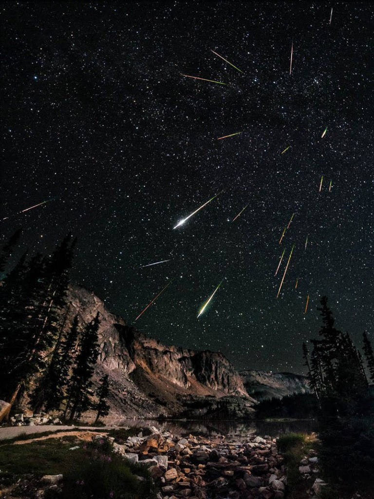 The Perseids meteor shower