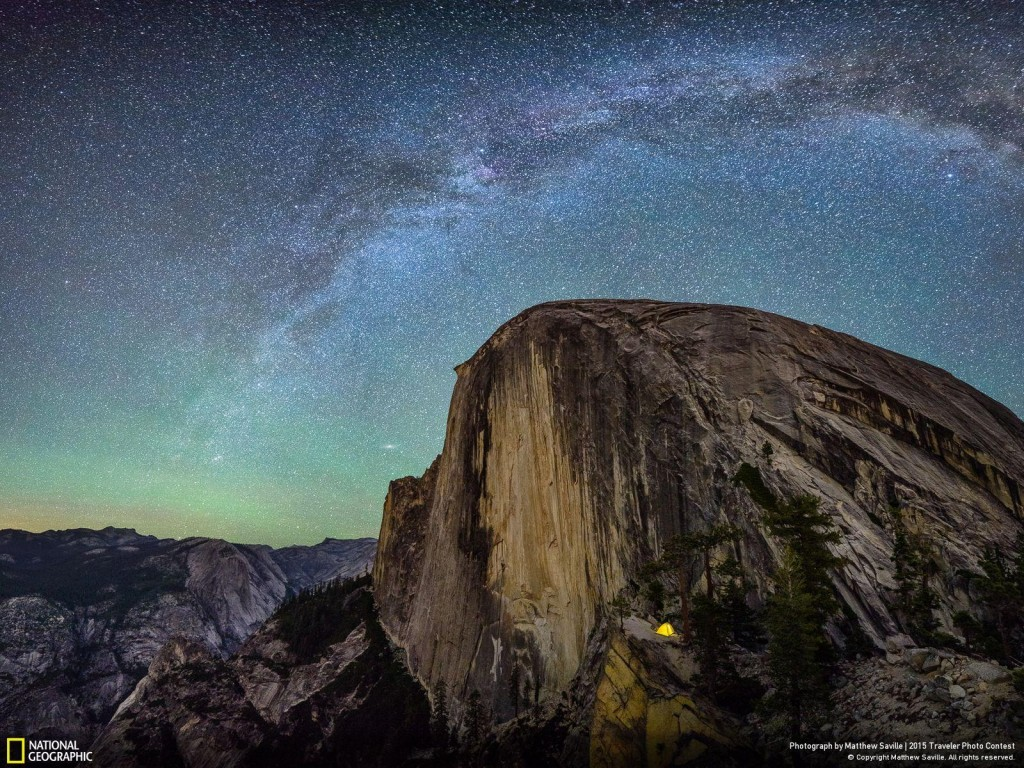 by Matthew Saville, Camping on the Diving Board, Yosemite, Calif, USA