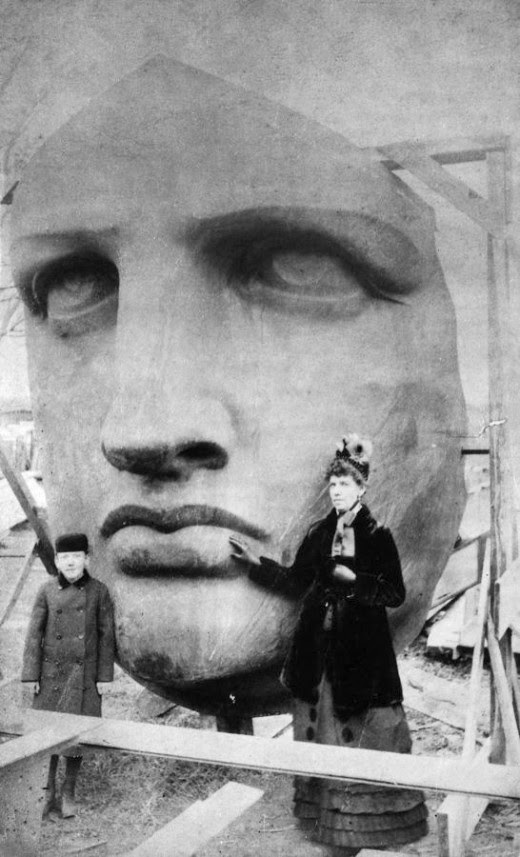 Unpacking the Head of the Statue of Liberty. Delivered June 17, 1885.