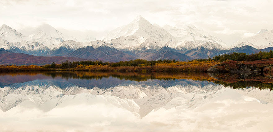 Alaska Range, Denali Wilderness In Alaska by Tim Iken