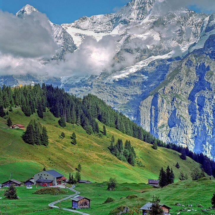 Farm, Swiss Alps