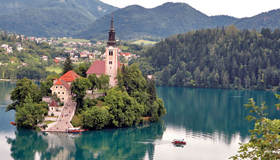 Church of the Assumption on Bled Island, Slovenia