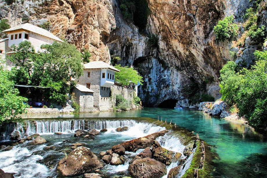 Small town of Blagaj, Bosnia and Herzegovina