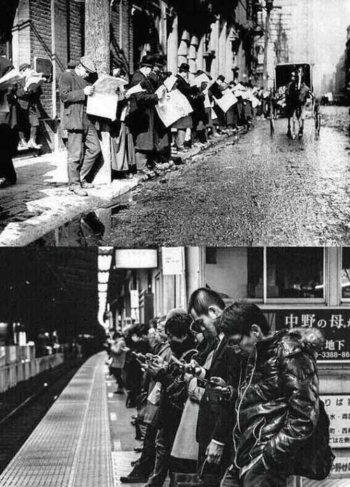 human ingen via geo, the daily commute, then and now